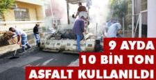 Kozan'da 9 Ayda 10 bin ton asfalt kullanıldı