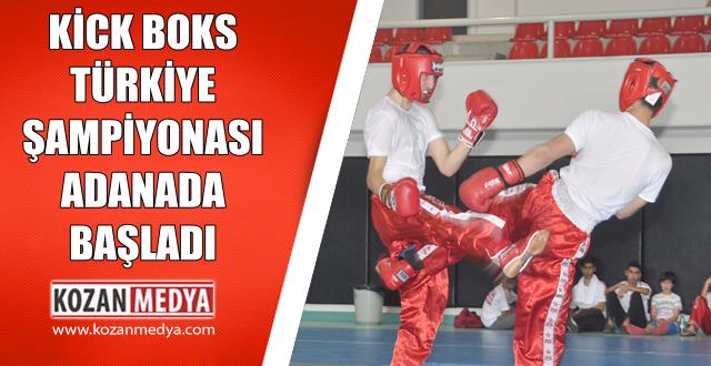 Türkiye Okullar Arası Kick Boks Türkiye Şampiyonası Adanada Başladı