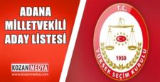 24 Haziran Seçimi Adana Milletvekili Aday Listesi