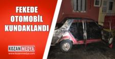 Fekede Otomobil Kundaklanarak Yakıldı