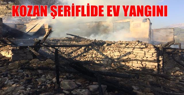 Kozan Şerifli Köyünde Ev yangını