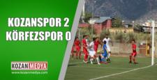 Kozanspor 2 Körfezspor 0