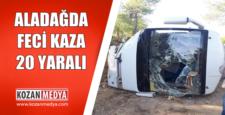 Aladağda Feci Kaza 3'ü Ağır 20 Yaralı