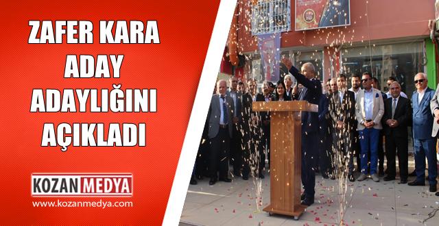Zafer Kara AK Parti Kozan Belediye Başkan Aday Adaylığını Açıkladı