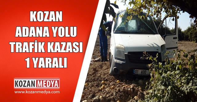 Kozan Adana Yolunda Trafik Kazası 1 Yaralı