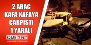 2 Otomobil Kafa Kafaya Çarpıştı 1 Yaralı
