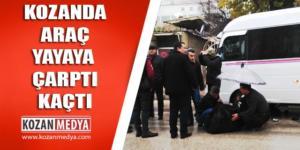 Kozanda Otomobil Yayaya Çarptı Kaçtı