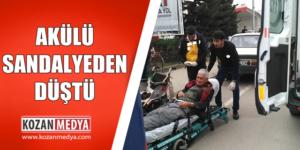 Engelli Vatandaş Akülü Sandalyeden Düştü Yaralandı