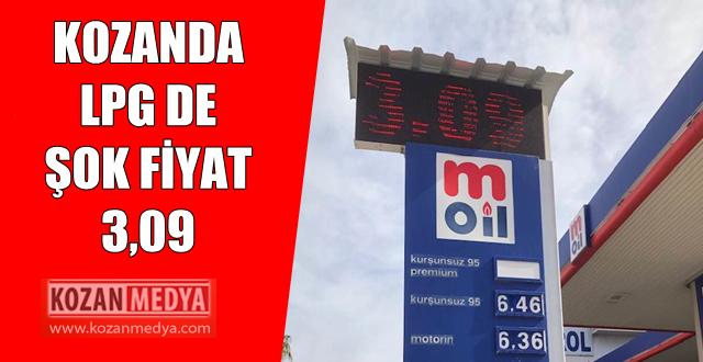 Kozanda LPG de Şok Fiyat 3,09