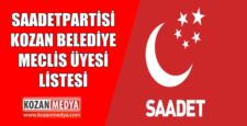 Saadet Partisi Kozan Belediyesi Meclis Üye Listesi Belli Oldu
