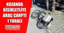 Kozanda Bisikletliye Araç Vurdu Bisiklet Sürücüsü Yaralandı.