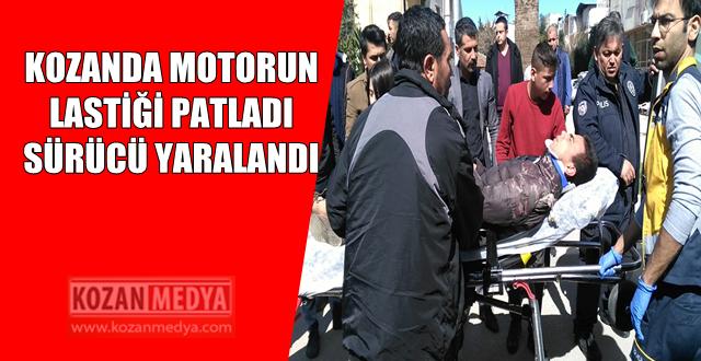 Motorsikletin Arka Lastiği Patladı Sürücü Yaralandı