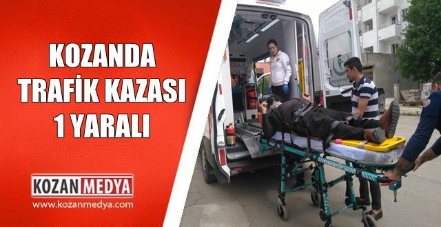 Kozanda Manevra Yapan Araca Çarpan Motor Sürücüsü Yaralandı