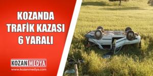 Kozanda Araç Takla Attı 6 Yaralı