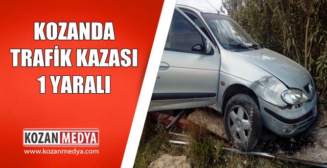 Kozan Sıralifte Kaza 1 Yaralı