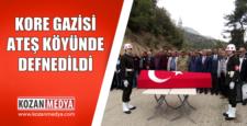 Kore Gazisi Mehmet (Halit) Ateş, Askeri Törenle Son Yolculuğuna Uğurlandı
