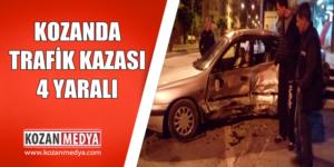 Kozanda Trafik Kazası 4 Yaralı