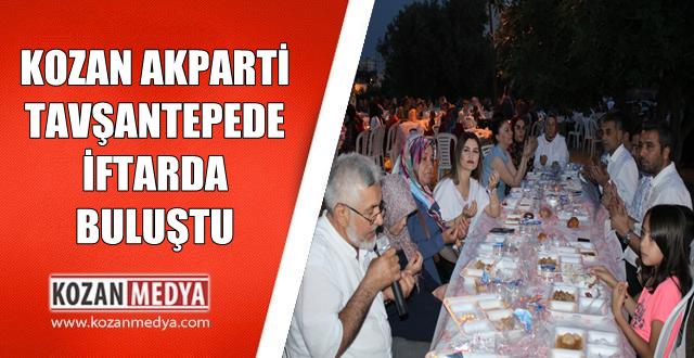Ak Parti Kozan İlçe Teşkilatı Son İftarında Tavşantepe Mahallesinde Buluştu