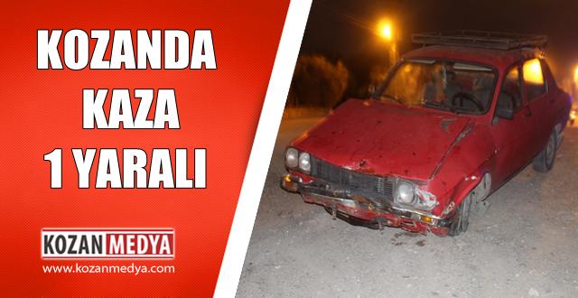 Kozan'da Meydana Gelen Trafik Kazasında 1 Kişi Yaralandı