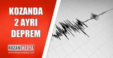 Kozanda 2 ayrı Deprem