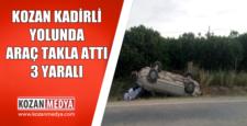 Kozan Kadirli Yolu Araç Takla Attı 3 Yaralı