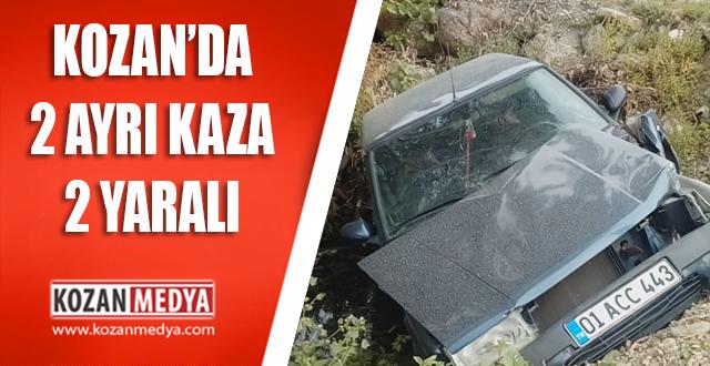 Kozan'da 2 Ayrı Trafik Kazası 2 Yaralı
