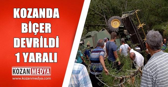 Kozanda Biçerdöver Devrildi Operatör Biçerin Altında Kaldı