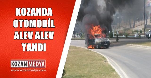 Kozanda Otomobil Alev Alev Yandı