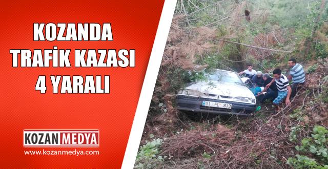 Kozan'da Trafik Kazası 4 Yaralı