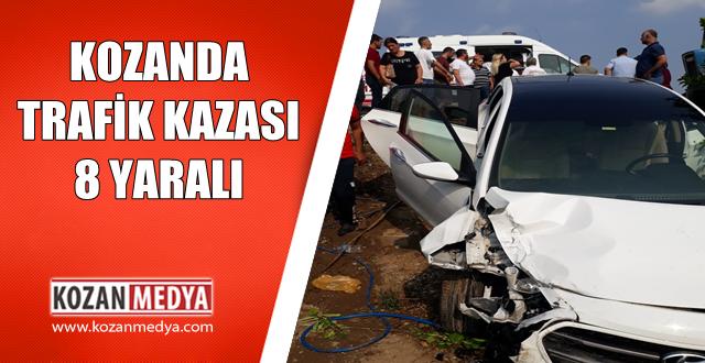 Kozanda Trafik Kazası 8 Yaralı