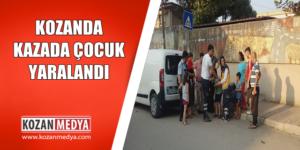 Kozandaki Trafik Kazasında 9 Yaşındaki Çocuk Yaralandı