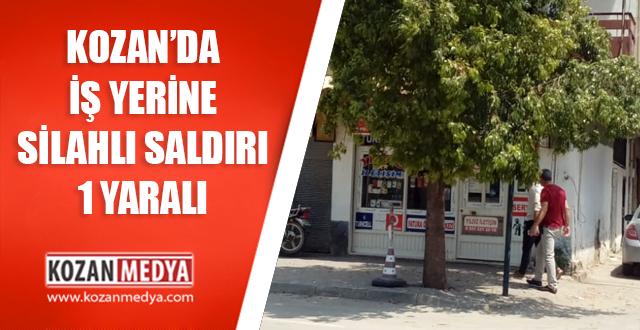 Kozan'da İş Yerine Silahlı Saldırı 1 Yaralı