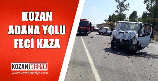 Kozan Adana Arasında Feci Trafik Kazası 1 Ölü 4 Yaralı