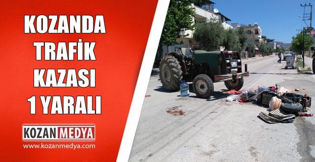 Kozanda Traktör Elektrikli Bisiklete Çarptı 1 Yaralı