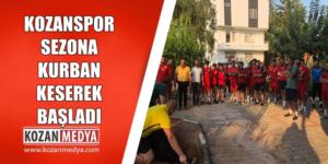 Kozanspor Yeni Sezona Başladı İkinci Antreman Öncesi Kurban Kesildi