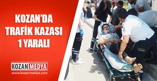 Kozan'da Trafik Kazası Elektrikli Bisiklet Arabaya Çarptı 1 Yaralı