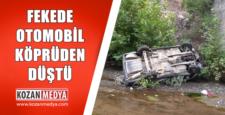 Fekede Araç 4 Metrelik Köprüden Düştü 1 Yaralı