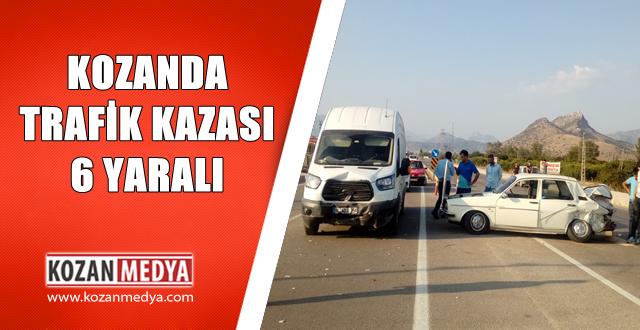 Kozanda Trafik Kazası 2 si Çocuk 6 Yaralı