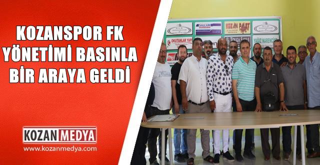 Kozanspor FK Yönetimi Basınla Bir Araya Geldi
