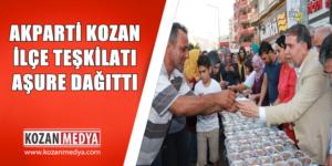 Ak Parti Kozan İlçe Teşkilatı Aşure Dağıtım Programı Düzenledi