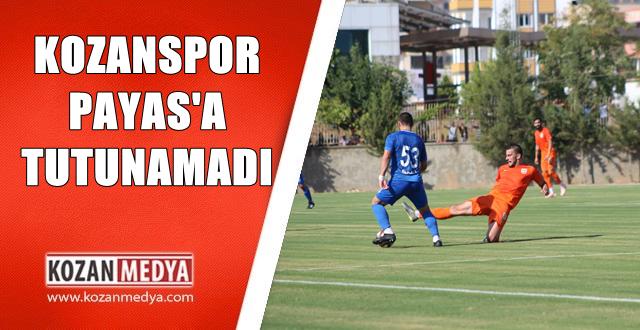 Kozanspor Kupada Kayıp 0-3