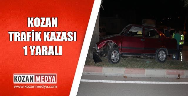 Kozan'da Aracın Direksiyonu Kilitlenmesi Sonucu Meydana Gelen Trafik Kazasında 1 Kişi Yaralı