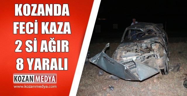 Kozan'da Trafik Kazası 2'si Ağır 8 Yaralı