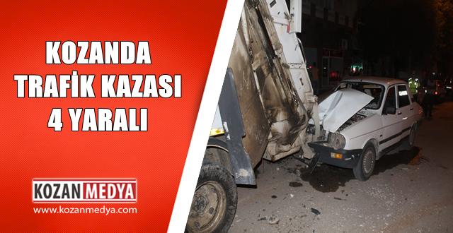 Kozan'da Meydana Gelen Trafik Kazasında 4 Kişi Yaralandı