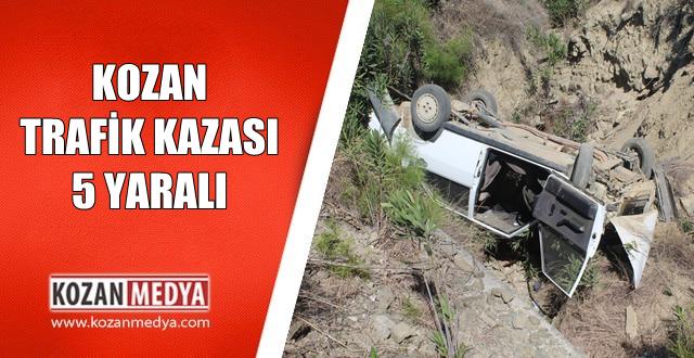 Kozanda Trafik Kazası 5 Yaralı