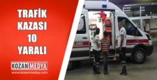Tarım İşçilerini Taşıyan Minibüs Devrildi Aynı Aileden 8'i Çocuk 10 Kişi Yaralandı