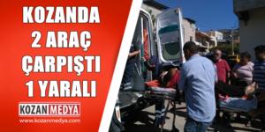 Kozan'da 2 Araç Çarpıştı 1 Kişi Yaralandı