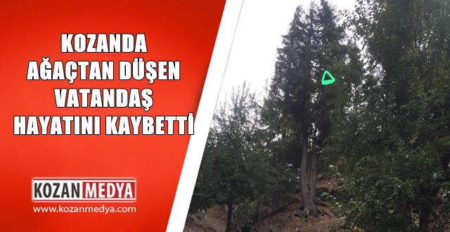 Kozanda Ağaçtan Düşen Adam Hayatını Kaybetti