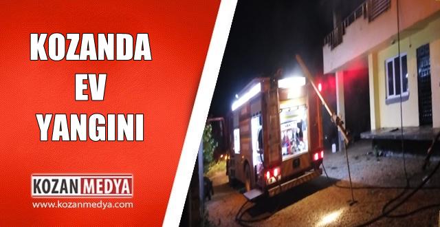Kozan'da Ev Yangını Korkuttu