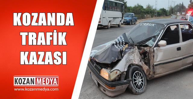 Kozanda Tarım  İşçilerini Taşıyan Otobüs ile Otomobil Çarpıştı 1 Yaralı